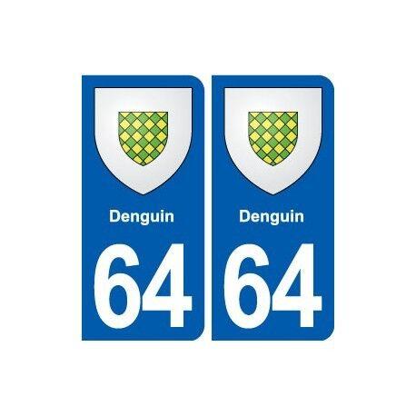 64 Denguin blason autocollant plaque stickers ville droits