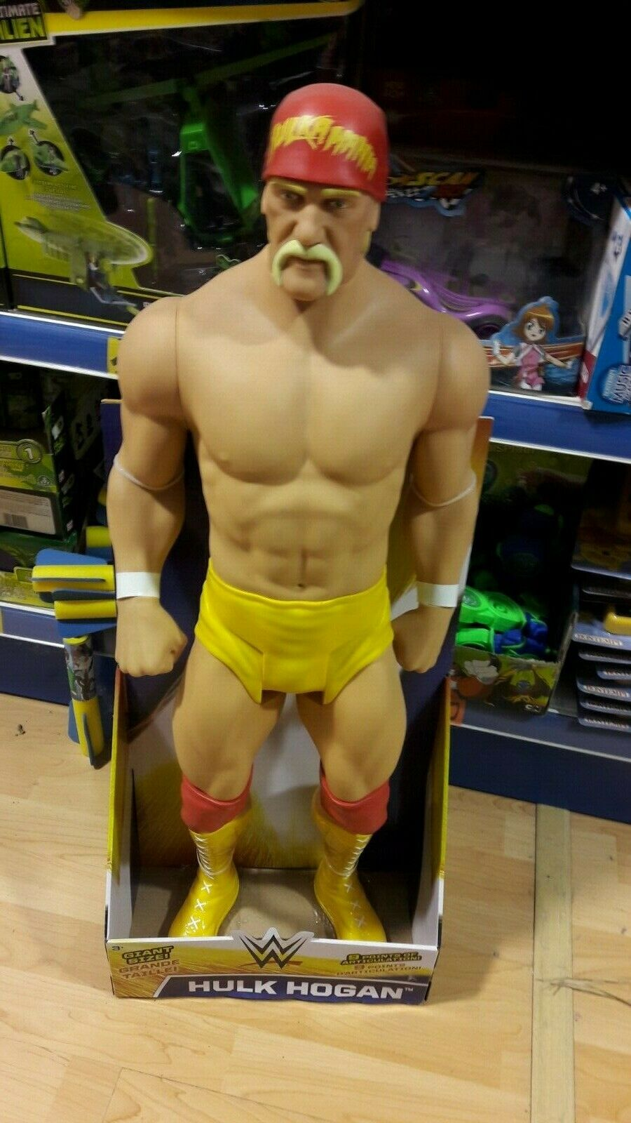 Hulk Hogan 79 cm da  collezione  protezione post-vendita
