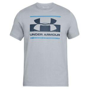Under-Armour-blocked-Sport-style-logotipo-short-sleeve-camisa-Men-t-shirt-1305667-035