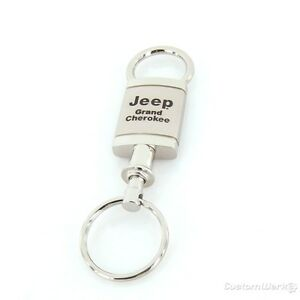 Jeep Compass Satin Chrome Valet Keychain
