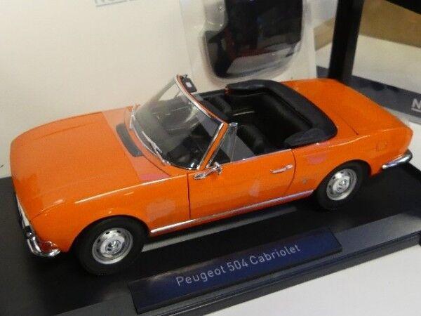 1 18 NOREV PEUGEOT 504 cabriolet 1970 Orange 184826