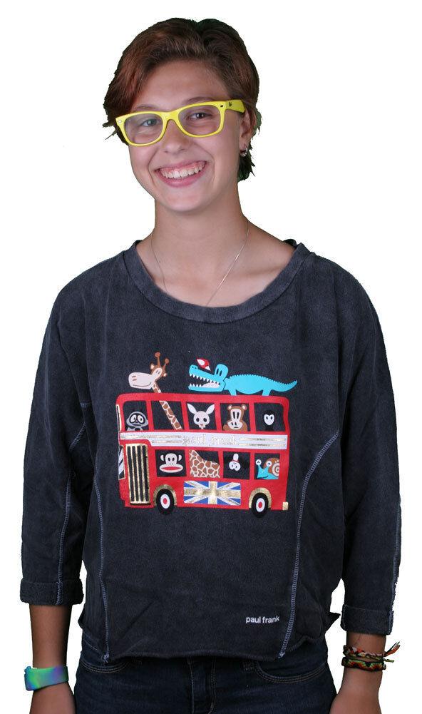 Paul Frank Cruising In London Black Dolman Longsleeve Sweater Top