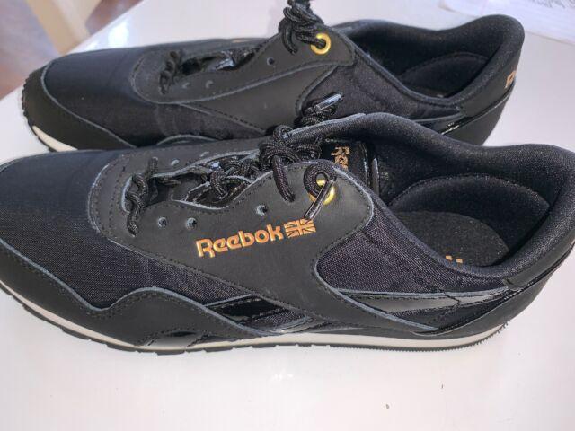 Reebok Classic Women Black Gold Size 8