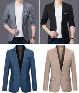 Image Is Loading Office Work Men Slim Fit Long Sleeve Formal