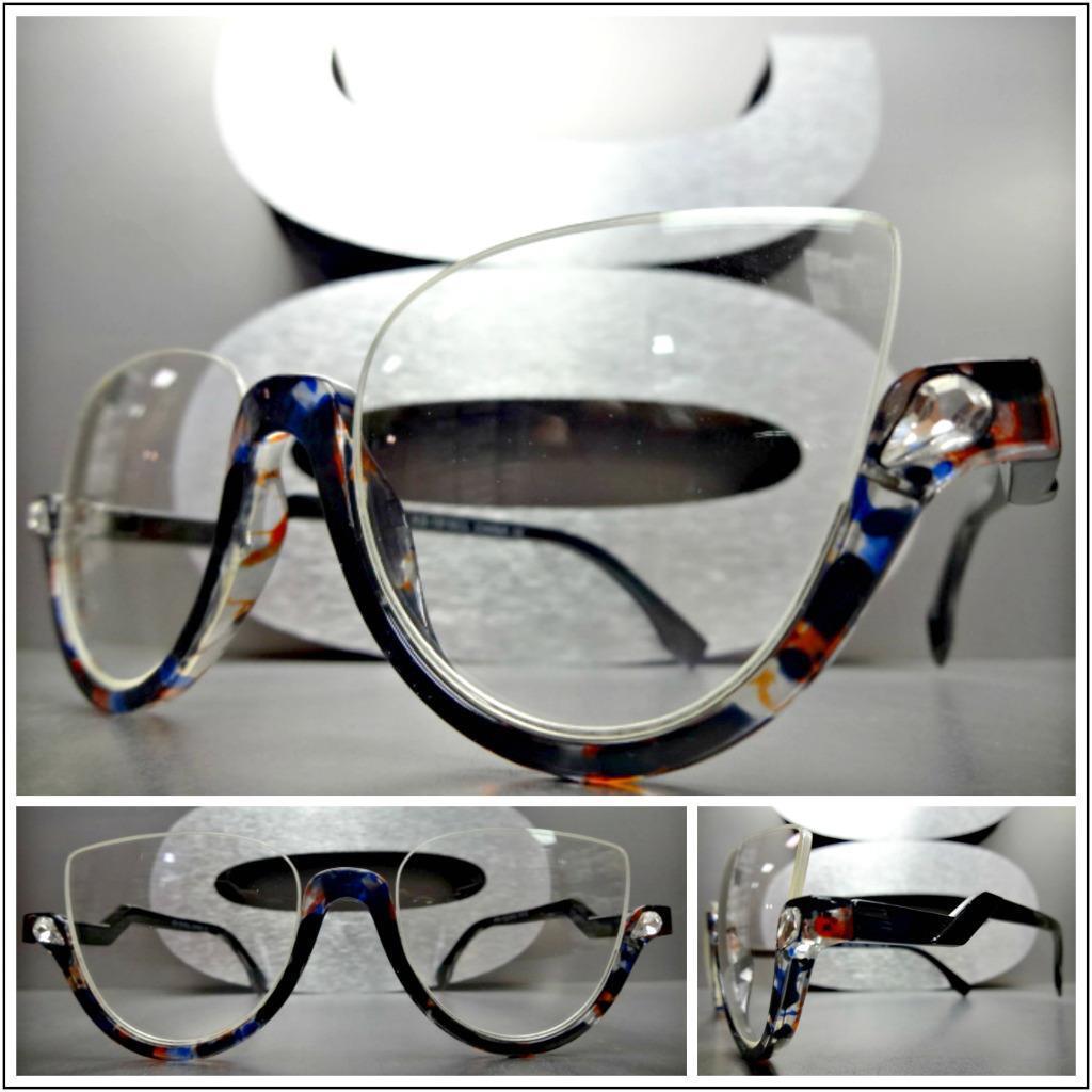 CLASSIC 60's RETRO CAT EYE Style Clear Lens EYE GLASSES Tortoise & Black Frame