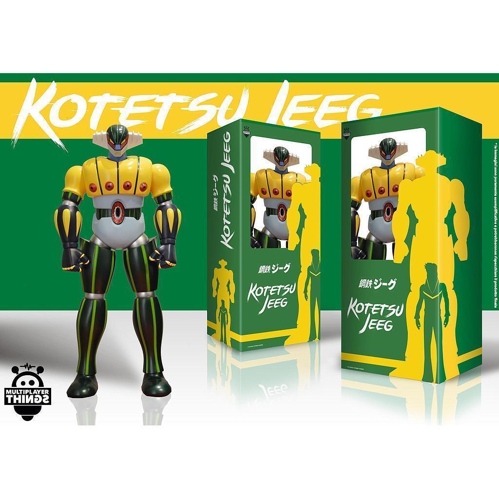 Kotetsu Steel Jeeg Robot D'Steel Anime Colour Version JUMBO Figure 23 5 8in HL