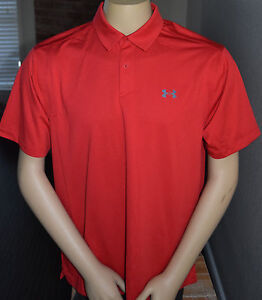 c55837b0 NEW UNDER ARMOUR MENS HEATGEAR COOLSWITCH POLO MED LOOSE FIT TRUE ...