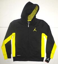 44fab4cbcc30eb item 3 NIKE AIR JORDAN Boys THERMA Fit Zip Hoodie Jacket BLACK Yellow Youth  S 8-10 Age -NIKE AIR JORDAN Boys THERMA Fit Zip Hoodie Jacket BLACK Yellow  Youth ...