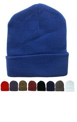 bb178716 72pc Solid Color Beanie Hats Winter Knit Hat Toboggan Ski Cap Bulk  Wholesale Lot