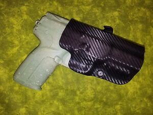 PADDLE-HOLSTER-BLACK-CARBON-KYDEX-FITS-S-amp-W-BODYGUARD-38-w-LASER-HIGH-and-TIGHT