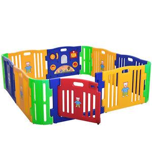 Baby-Girl-Playpen-12-Panel-Kids-Safety-Play-Center-Yard-Home-Indoor-Outdoor
