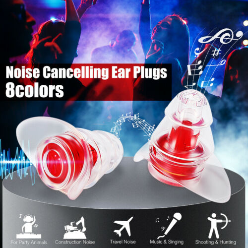 Noise Cancelling Earplugs for Concerts Musicians Motorcycles !