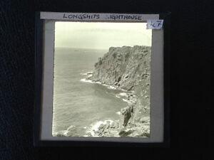 Magic-Lantern-Glass-Slide-Longships-Lands-End-Cornwall-Photo-pre-1920s-no-47