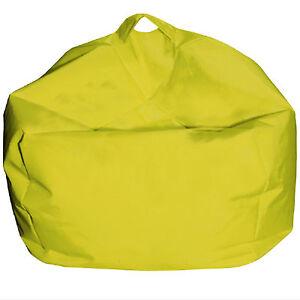 Cuscino per esterno Pouf poltrona a sacco giallo Ø65 cm da giardino ...