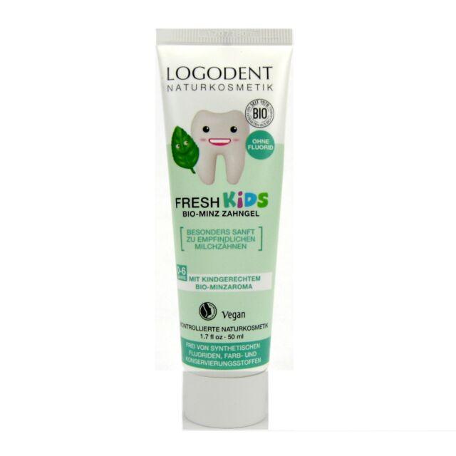 (5,90/100ml) Logona Logodent Fresh Kids Zahngel Bio-Minz 50 ml