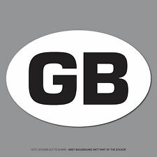 SKU2531 - GB Oval Sticker EU European Road Legal Car Badge Vinyl