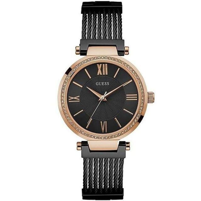 Guess Women's Black Analogue Quartz Watch With Stainless Steel Bracelet W0638L5