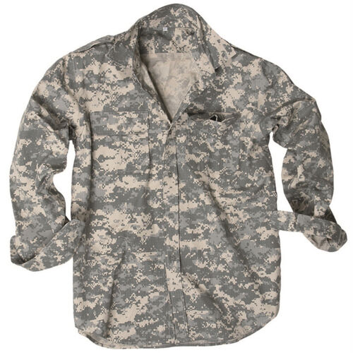 US Feldhemd Ripstop langarm XS-3XL Tropenhemd Safarihemd Army Hemd Armeehemd