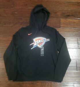 reputable site 85957 0ce51 Details about NIKE WOMENS NBA OKLAHOMA CITY THUNDER HOODIE Size Large  913065 010 Black