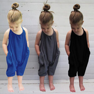 Toddler-Kids-Baby-Girl-Halter-Romper-Jumpsuit-Playsuit-Harem-Pants-Outfits-Set
