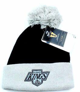 Los Angeles Kings CCM Vintage Hockey Team Logo Pom Pom Knit Hat ... c3337c6e5