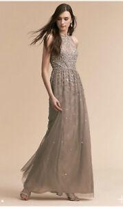 f0de7ba01dd BHLDN GINNY WEDDING GUEST LONG DRESS SIZE 8 SILVER GREY PROM ...