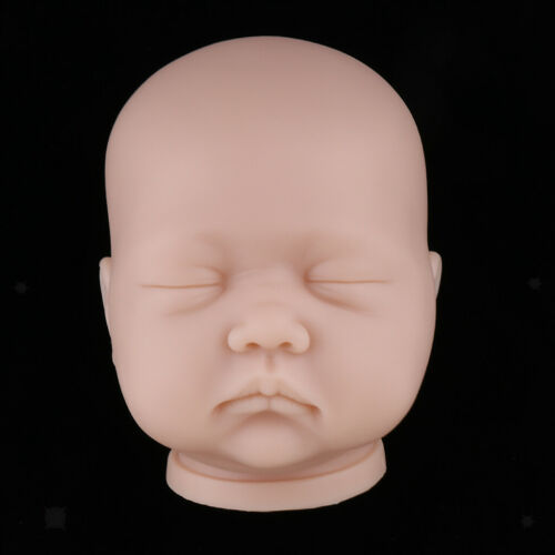 20/'/' DIY Reborn Doll Unpainted Baby Doll Head Sculpt DIY Doll Making Accs #1