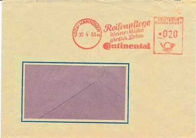Gut 610666 Continenthal Reifen Hannover 1953 Bund Fst Blg
