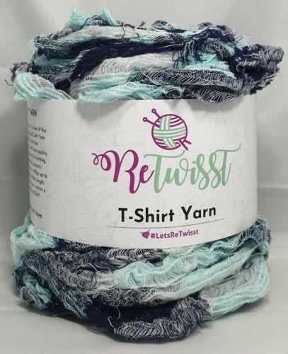 Fuzzy Mint,Weiß,Blau Töne` Neu 411 ReTwisst `T-Shirt//Stoffgarn Medium 90m