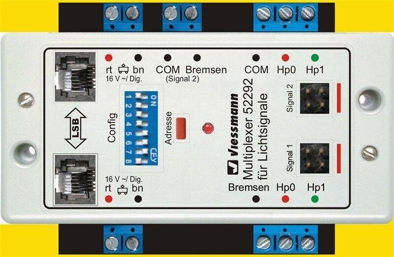 Viessmann 52292 doppio moltiplicatori per due segnali di luce Multiplex-tecnologia
