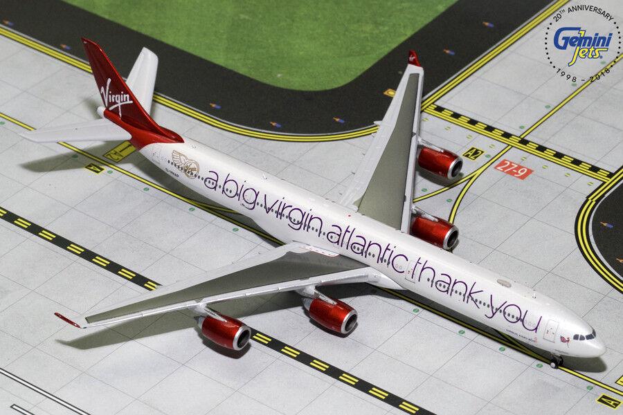 Gemini Jets Virgin Atlantic Airbus A340-600 A Big Thank You 1/400 GJVIR1766