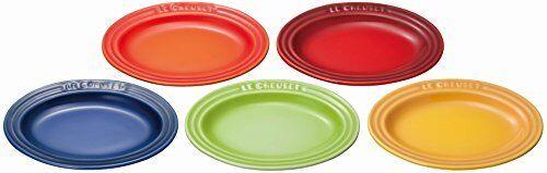 Nouveau Le Creuset grès Mini assiette ovale (Ensemble de 5) 5 couleurs JPN