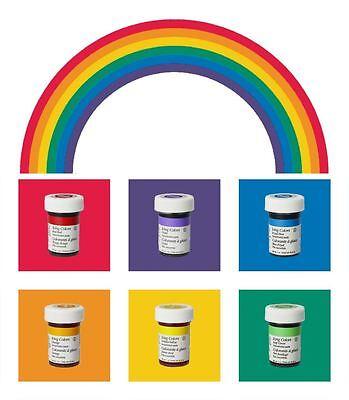 Wilton Icing Color Gelfarben Lebensmittelfarbe 6 x 28g im Set Regenbogenmix