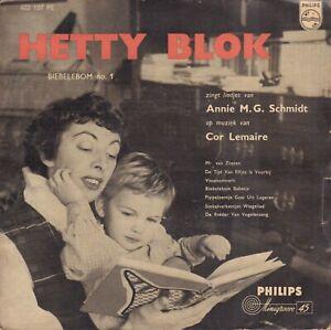 HETTY-BLOK-Biebelebom-No-1-1957-VINYL-EP-7-034-TEKST-ANNIE-M-G-SCHMIDT