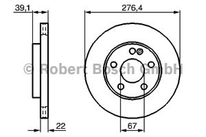 2 Stück Bosch 0 986 479 186 Bremsscheibe