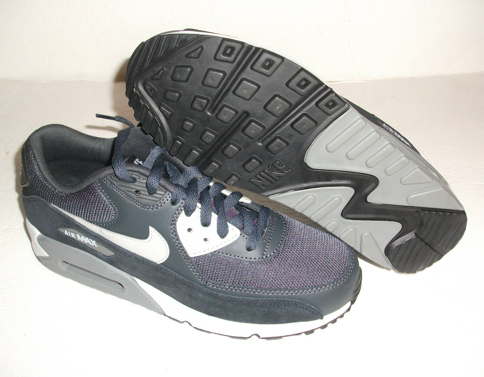 New Nike Air Max 90 Running, Men's Size 9.5, Anthracite/Black, 537384-035