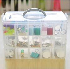 Plastic Storage Box Container Case 30 Organizer Nail Polish Jewelry Craft Makeup