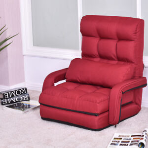 Image Is Loading Red Folding Lazy Sofa Floor Chair Sofa Lounger