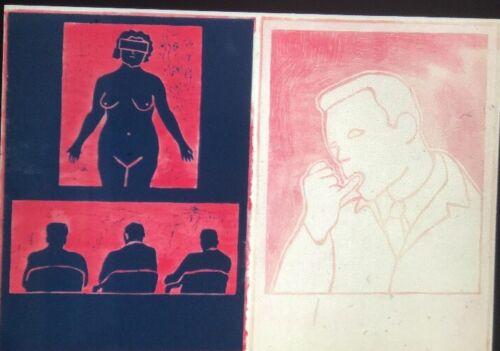 "Ida Applebroog ""American Medical Associations"" Modern American Art 35mm Slide"