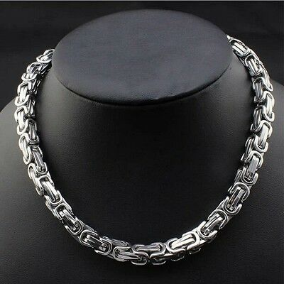"""Men Necklace Charms Chain Stainless Steel 24"""" Link 8MM 150g Fashion Jewelry"""