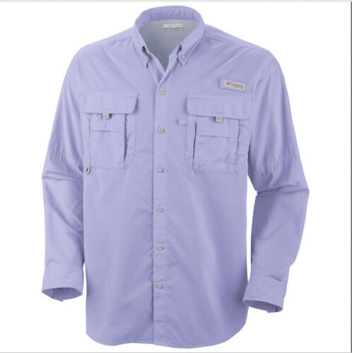 Columbia PFG Mens Medium Blue Bahama ll UPF 50 Short Sleeve Casual Shirt NWT