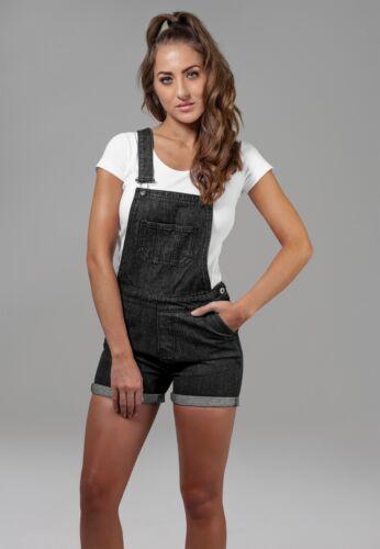 Classics Tb1536 Donna Dungaree Urban Intera Salopette Short Jeans Tuta Ladies Bdxa6w