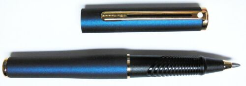 Blue Shimmer /& Gold New Sheaffer Agio Compact Ballpoint Pen USA MADE