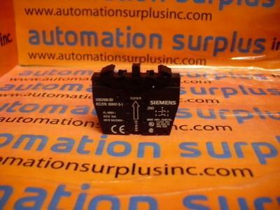3SB3400-0D Siemens Push Button Switch Contact Block NEW