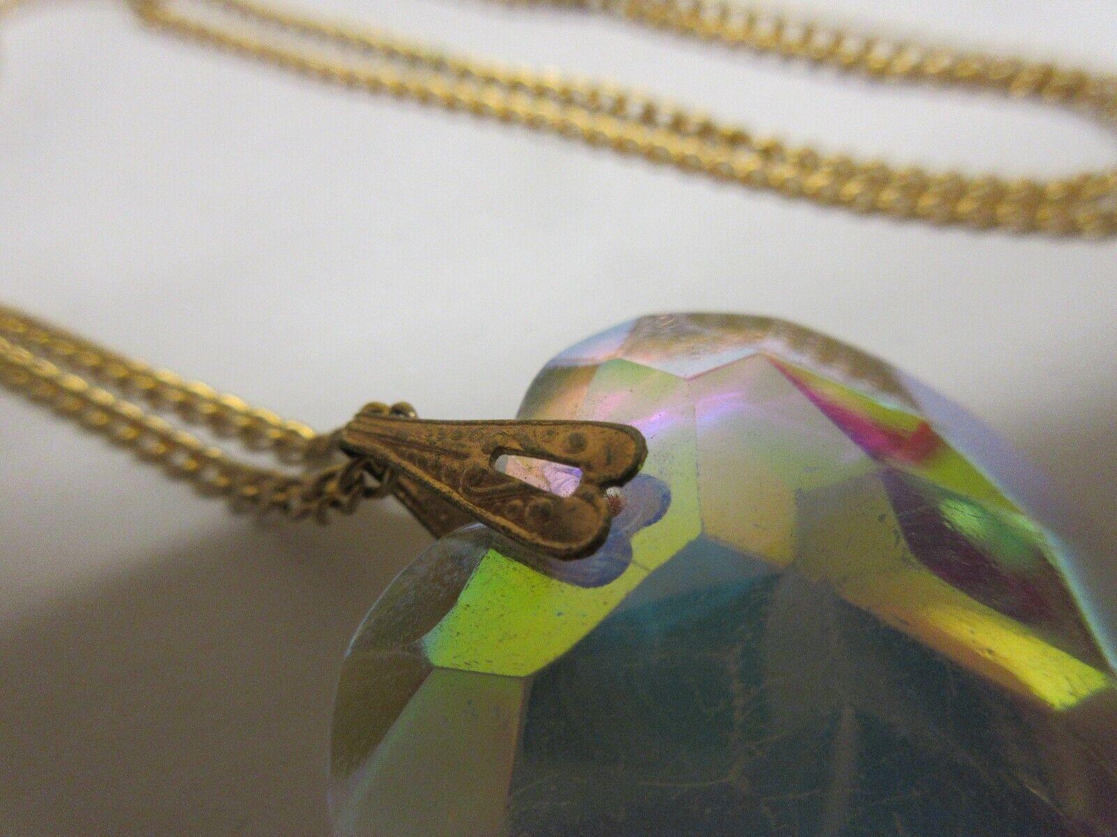 Costume Jewelry , Necklace , Multi Color Pendant , Vint