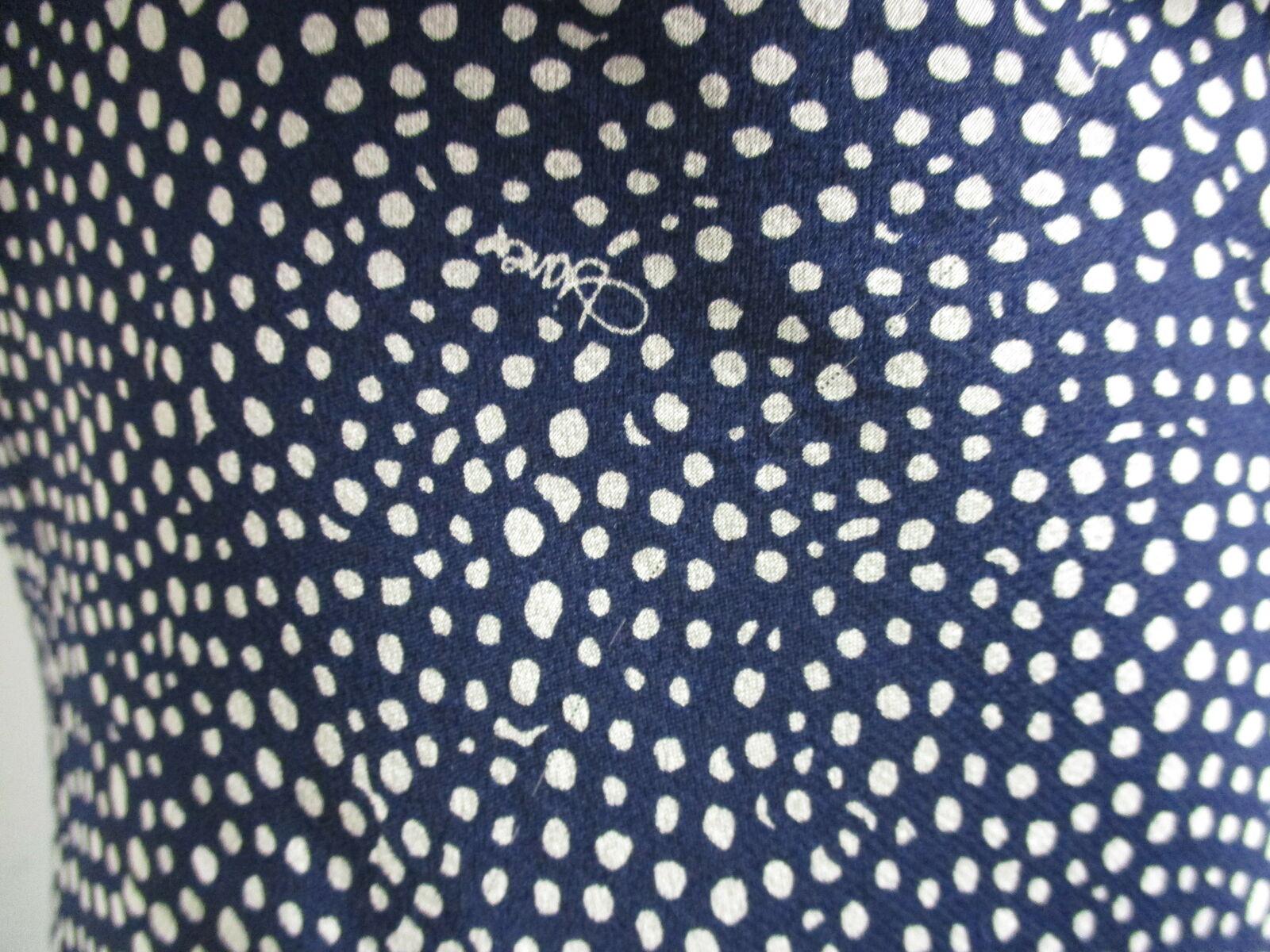 DIANE VON FURSTENBERG Dita 100% silk navy blue & … - image 3