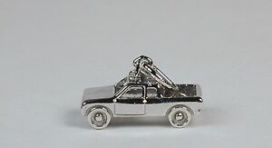 Sterling-Silver-Pickup-Truck-Charm-w-Lobster-Claw-Clasp-Free-U-S-Shipping
