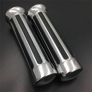 Handlebar-Hand-Grips-for-Honda-CBR-600-900-1000-RR-929-7-8-034-Motorcycle-Chrome
