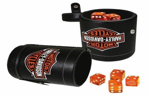 Leatherette Cup #651 Harley-Davidson Bar /& Shield Logo Dice Cup Game Set