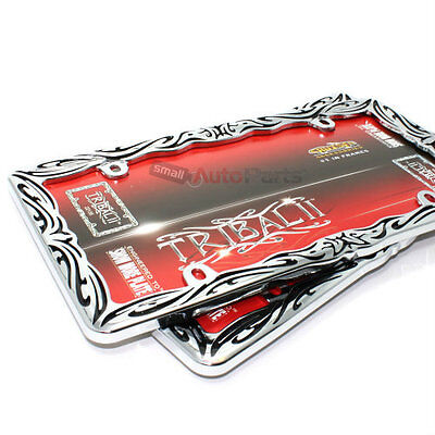 Plain Chrome Thin Perimeter License Plate Tag Frame for Auto-Car-Truck